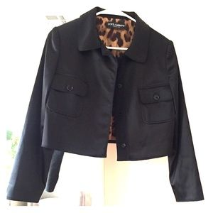 Dolce & Gabbana black satin jacket